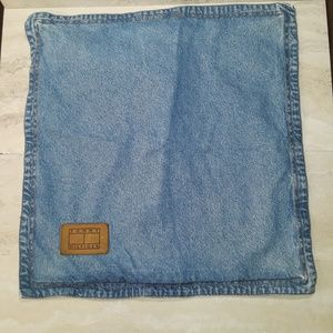 Tommy Hilfiger denim pillow sham w/ leather patch